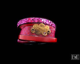 Cuff Bracelet variationrose/purple cloud ormolu