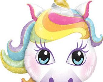 Large Pastel Unicorn Party Balloon/ Unicorn Party Balloon/ Pastel Unicorn Party Balloon/ Unicorn Balloon