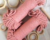 Blush Pink* coloured cotton macrame cord, cotton rope, pink cotton rope, macrame supplies, tapestry supplies, weave, basketry