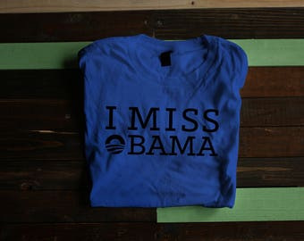 Men S I Miss Obama Tee T Shirt Anti Trump Protest Shirt Civil Rights Election