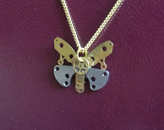 Steampunk Mechanical Butterfly Necklace