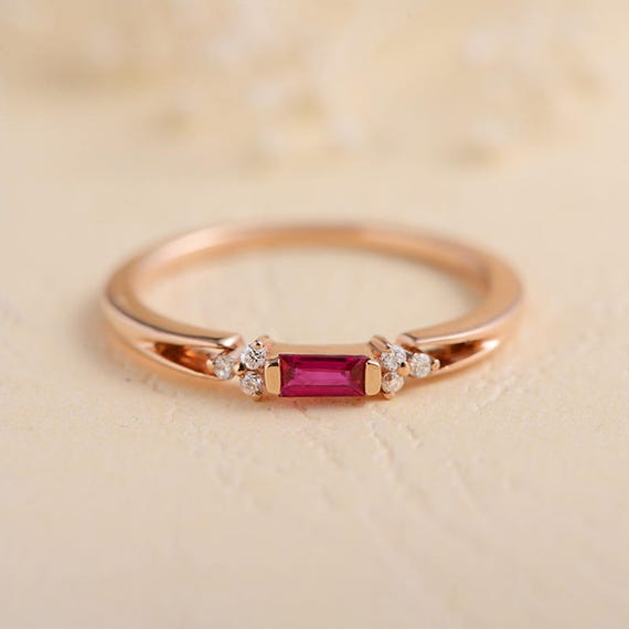 Etsy Antique Ruby Ring