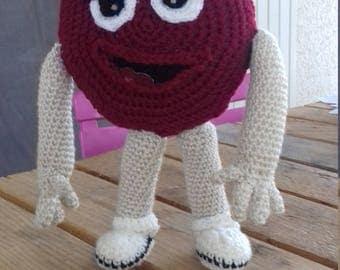 M&M's RED. Crochet.