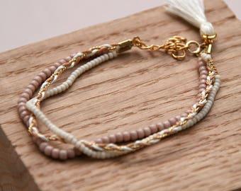 Seraphine Bracelet (white & gold)