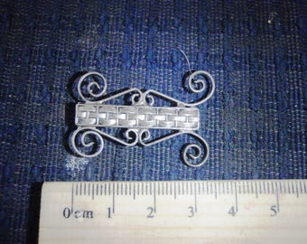 vintage brooch victorian silver 1940s