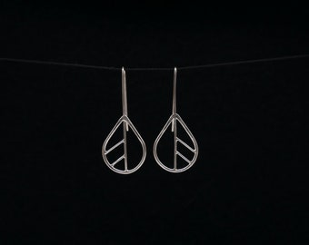 found form Silver leaf earrings