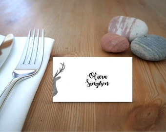 Stag Printable Place Cards