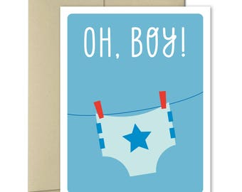 New Baby Card - Welcome Baby Card - Pregnancy card - Baby Shower card - Boy Baby Shower - New parents Card - Baby Boy Card - It's a boy
