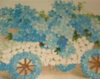 Vintage Floral Postcard (Car # 4)