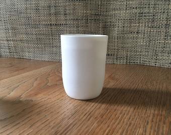 porcelain tumbler medium. handmade. dishwasher safe.