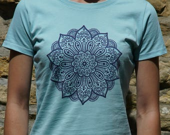 Organic Mandala Ladies Fitted T-Shirt