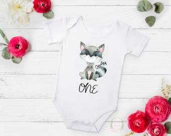one bodysuit, first birthday bodysuit, turning one bodysuit, animal bodysuit, cute animal bodysuit, baby birthday gift, baby present
