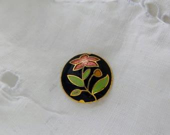 Vintage Broken Cloisonne Pendant