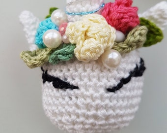 Crochet Unicorn Bauble