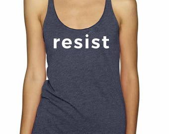 Resist Tank Top | Trump Resistance Tank Top | Resist Trump Tank Top | Anti-Trump Tank Top | Liberal Tank Top