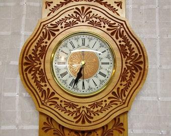 1700s Pennsylvania Dutch tole painting reproduction clock