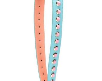 Leather Bag Strap Conical Studded  Rivet Shoulder Strap you replacement purse straps Removable Strap Purses Strap