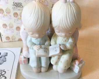 Vintage Precious Moments Unto Us Child Is Born  Figurine E-2013