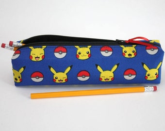 Pencil Case Made From Licensed Pokemon Fabric, Makeup Brush Bag, Rectangular Pouch