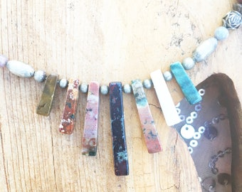 Vintage Mixed Stone Necklace