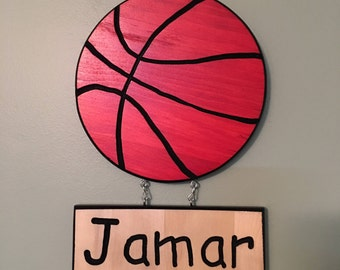 Handcrafted Wooden Personalized Basketball