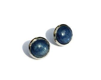 Silver earrings with Agate or Amethyst-earrings kyanite-agate earrings