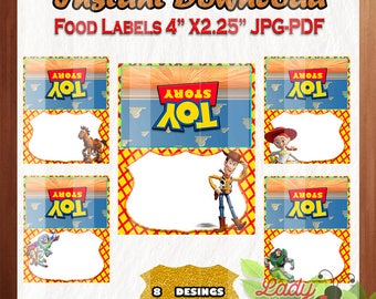 50% OFF SALE Food Tent Labels Toy Story - Sheriff Woody Buzz Lightyear party 8  sc 1 st  Etsy & Toy story food tent | Etsy