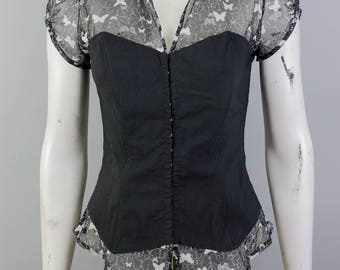 Sexy Top - Sexy Corset - Corset Top - Black Corset Top - Clear Corset Top - Sexy Black Fitted - Wet Look Corset - Style Top - Clear Top