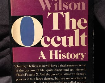 The Occult: A History by Colin Wilson - 1971 Book Club Hardcover