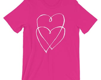 Hearts Interwinned | Lovers | Unity | Unisex Bella Canvas Short-Sleeve Gift Tee