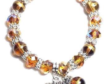 Elephant Bracelet Good Luck Protection Charm Bracelet Bohemian Gemstone Beaded Bracelet Stretch
