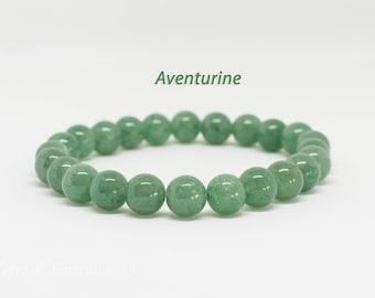 Bracelet 24 8 mm Aventurine beads
