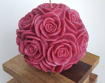 Burgundy Large Round Rose