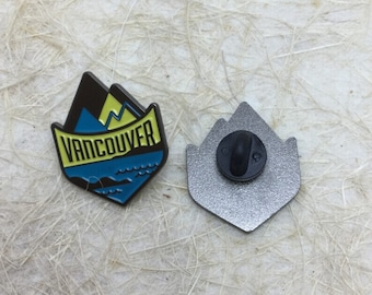 Vancouver British Columbia Travel Enamel Lapel Pin