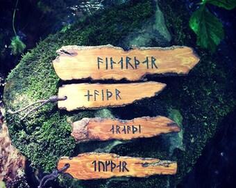 Personalized Viking Runes Bookmark, Custom Wooden Norse Gift, Birthday, Anniversary, Boyfriend, Father, Futhark, Mythology, Scandinavian