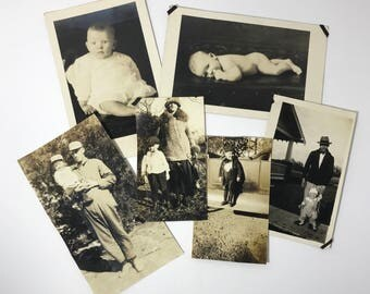 """Early 1900's   """"Baby Fever"""" Photography   collection of 6 baby/child photos/postcards"""