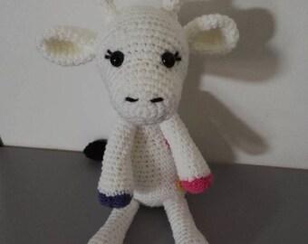 Amigurumi crochet giraffe toy