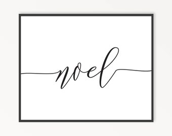 Christmas Wall Art, Holiday Wall Art, Noel, Christmas Decor, Holiday Decor, Minimalist Holiday, Printable Wall Art, INSTANT DOWNLOAD