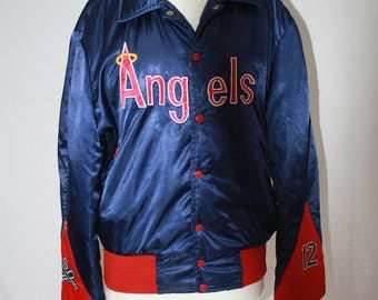 Vintage California Angels of Anaheim Baseball Jacket. Collectible  MLB Baseball Jacket 1980's-90's