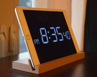 Wooden Tablet Stand / Tablet Alarm Clock / Tablet Recipe Holder / High  Quality 3D Printing