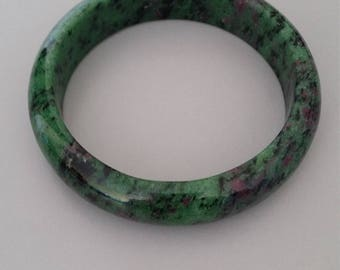 Ruby in Zoisite Bangle AKA Anyolite - Gemstone of Wisdom