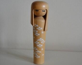 Original Vintage Sosaku Kokeshi doll. Japanese doll. Wooden doll.