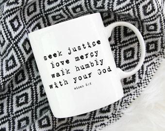 Bible verse mug, Bible verse gift, scripture gift, scripture mug, christian coffee cup, christian mug, youth pastor gift, uplifting mug