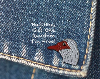 BUY 1, GET 1 Random Pin Free! Sly Duck Meme Enamel Pin Stink Eye Lapel Pin Duck Internet Meme Pin Badge Soft Enamel Pin Meme Pin Funny Pin
