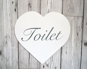 Heart Toilet Sign