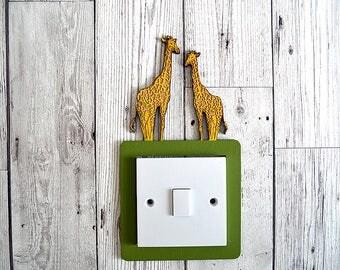 Giraffe Light Switch Surround - Home Decor, Boys Room, Girls Room, Nursery Decor, Kids Room, Baby Room, Home Decor