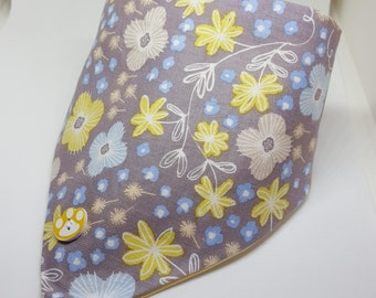 Brown Floral Bow or Bandana