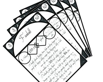 Printable Blank Spell Cards for Spell books in DnD/Pathfinder PDF Digital File