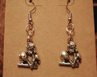 FORTUNE TELLER Earrings | Crystal Ball | Dangle French Hook | Wicca | Witch | the Craft