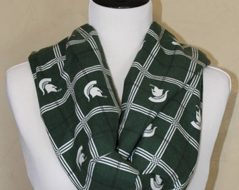 Michigan State Flannel Infinity Scarf